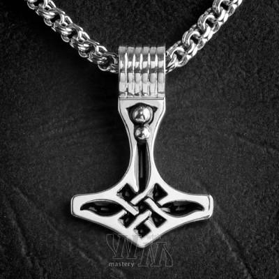 Молот Тора - серебро, эмаль